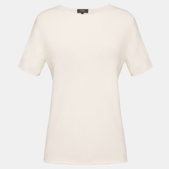 93caafb2304 ... THEORY Rolled Cashmere Tee Ivory. M_5baa751f6a0bb7591343780c